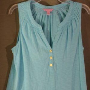 Lilly Pulitzer Blue Sleeveless Pullover Tunic L EU